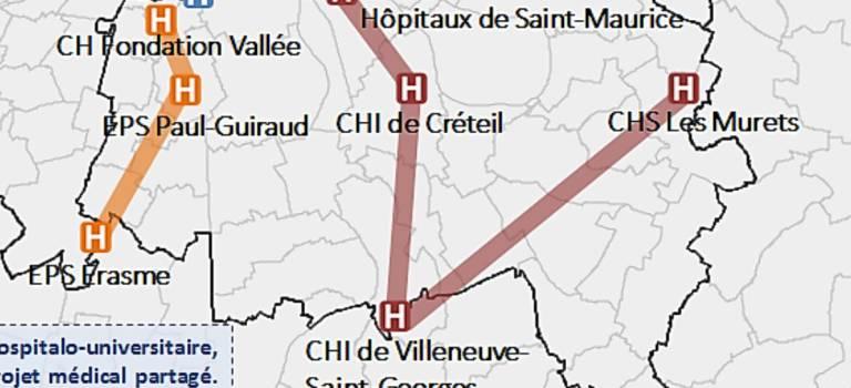 Deux groupements hospitaliers territoriaux (GHT) dans le Val-de-Marne