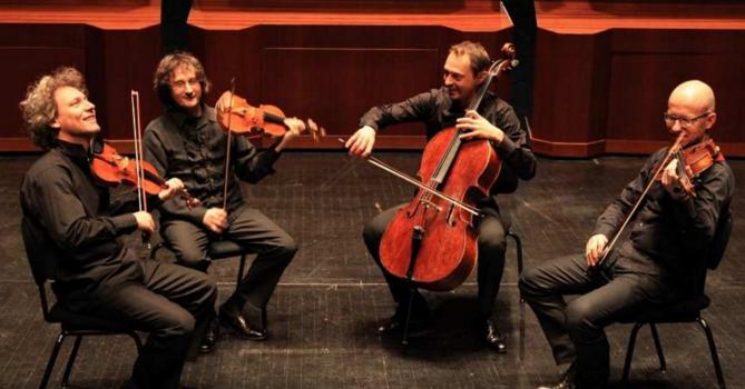 Le quatuor Dissonnance joue Schubert à la Scène Watteau