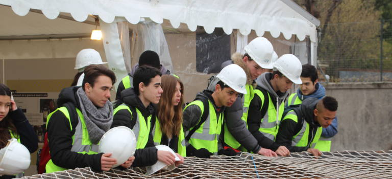A Saint-Maur, les collégiens découvrent la future gare la plus profonde de France