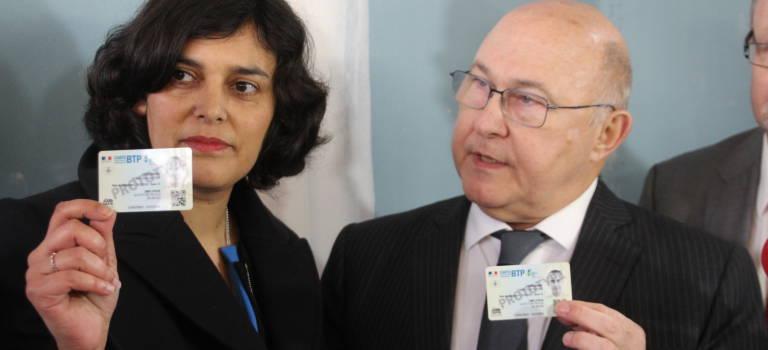 Myriam El Khomri et Michel Sapin lancent leur carte de travailleur détaché depuis Rungis