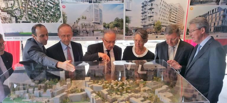 Première pierre posée pour le projet immobilier Eiffage de Nogent-sur-Marne