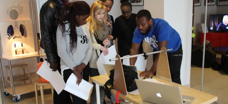 A l'Exporadôme, les élèves de l'école de la deuxième chance rebondissent grâce aux sciences