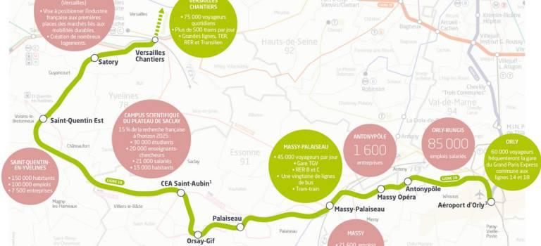 Le Val-de-Marne et l'Essonne défendent le prolongement de la ligne 18 jusqu'à Villeneuve-Saint-Georges