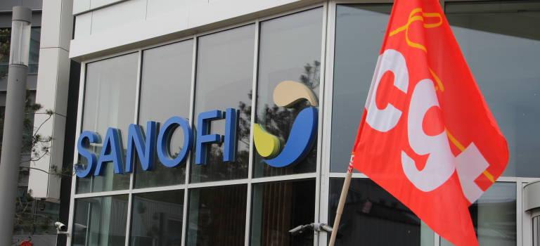 Manifestation à Gentilly contre les projets de cession de Cepia et Zentiva chez Sanofi