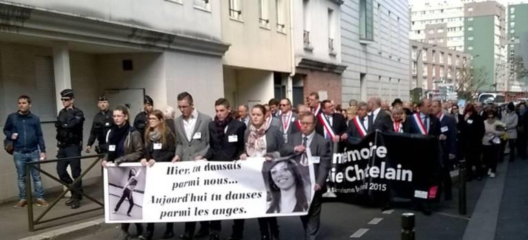 Emouvant hommage à Aurélie Chatelain à Villejuif
