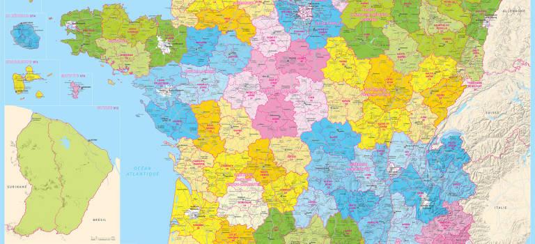 L'IGN publie la carte administrative de la France à 13 régions