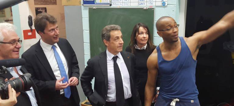 Nicolas Sarkozy teste sa campagne auprès des sportifs de Saint-Maur-des-Fossés
