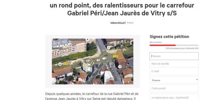 Accident de Vitry-sur-Seine : chauffard déféré et pétition pour réclamer un rond-point