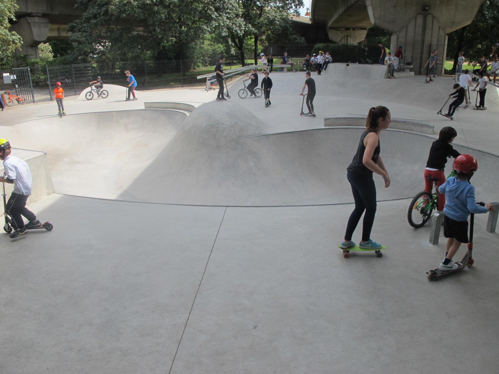 Maisons alfort a inaugur son skatepark 94 citoyens - Creer son skateboard ...