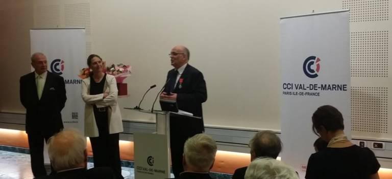 Le président de la CCI Val-de-Marne a été décoré de la légion d'honneur