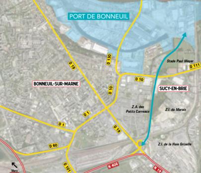 RN 406 au port de Bonneuil : enquête publique parcellaire à Boissy-Saint-Léger