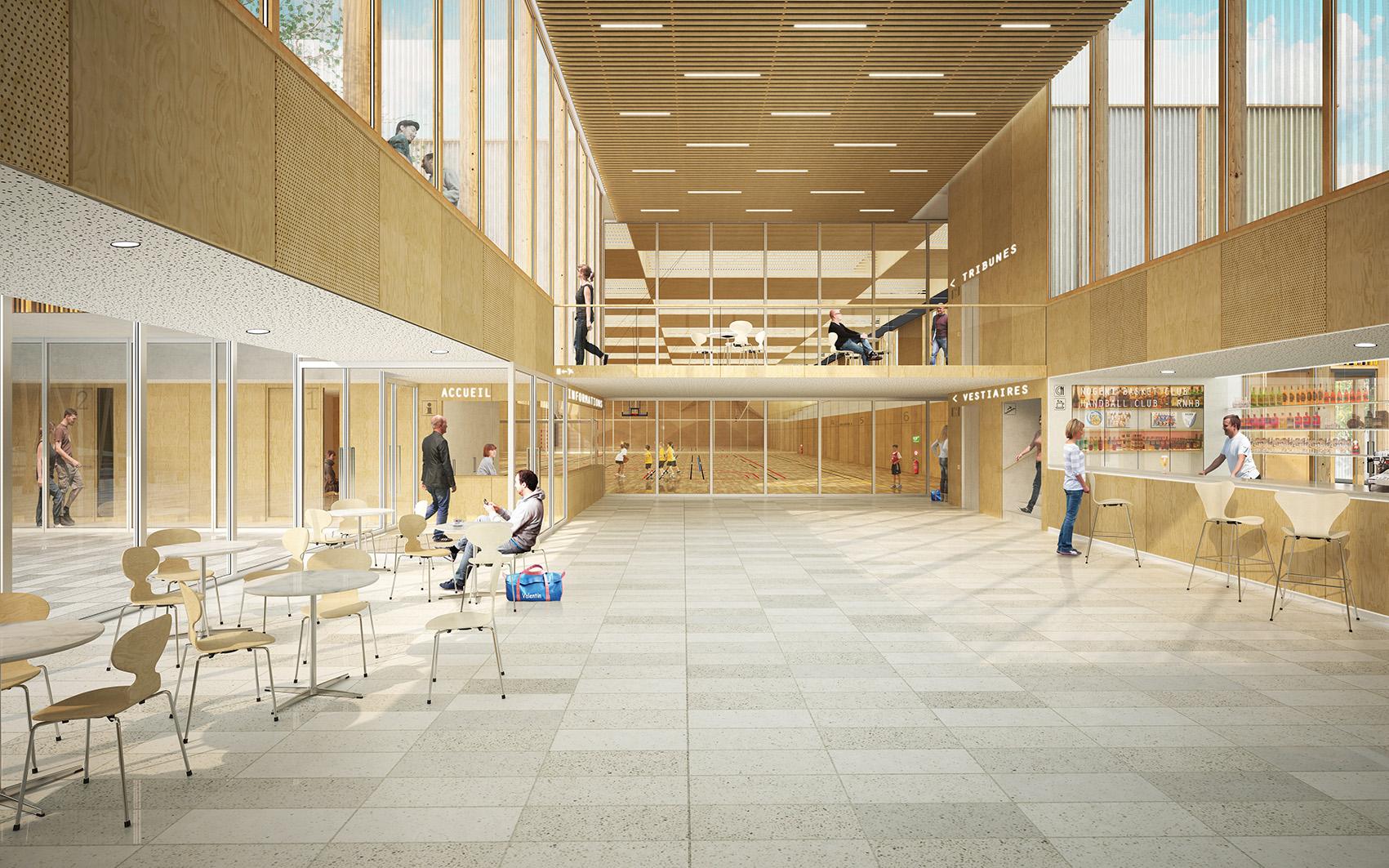 Stadium Gymnase Nogent sur Marne credit Agence Engasser et associes 1