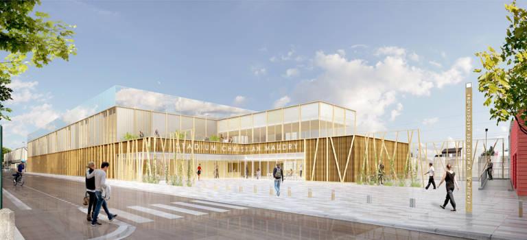 Le futur gymnase de Nogent-sur-Marne en images