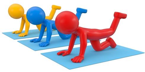 Rassemblement géant de yoga à l'aéroport d'Orly