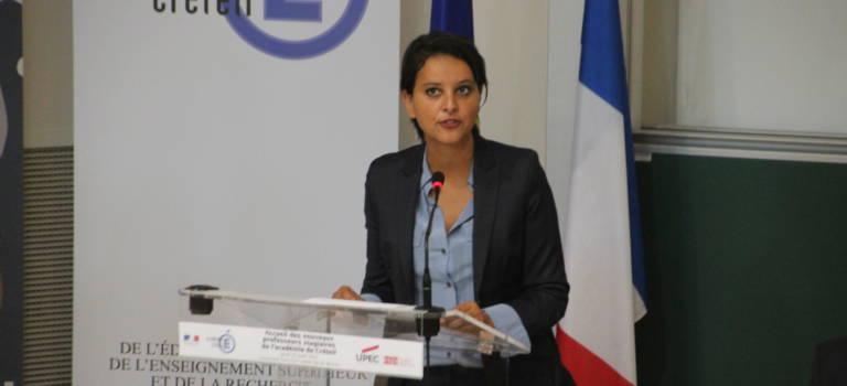 Najat Vallaud-Belkacem motive les enseignants stagiaires à Créteil