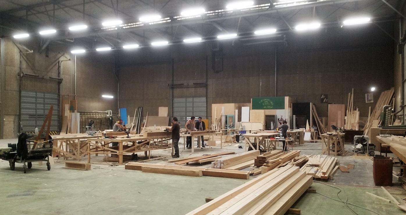 preparation des decors Studios de Bry