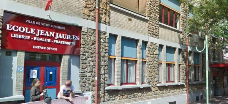Grève des enseignants à l'école Jean Jaurès de Vitry-sur-Seine
