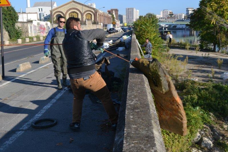 Ramassage dechets Seine Ose Ivry sur Seine 5