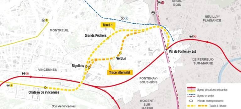 Le prolongement de la ligne 1 du métro à Val-de-Fontenay passera par Montreuil