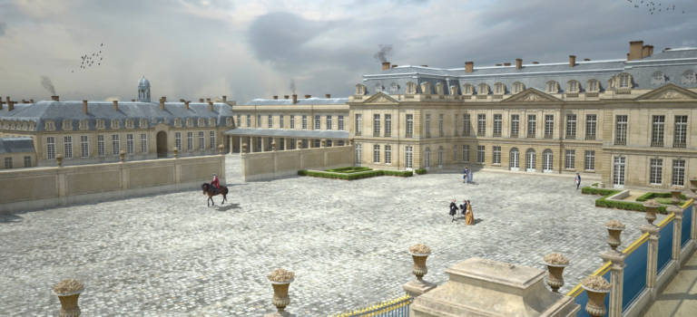 Plongée 3D au château de Choisy-le-Roi à l'époque de Louis XV