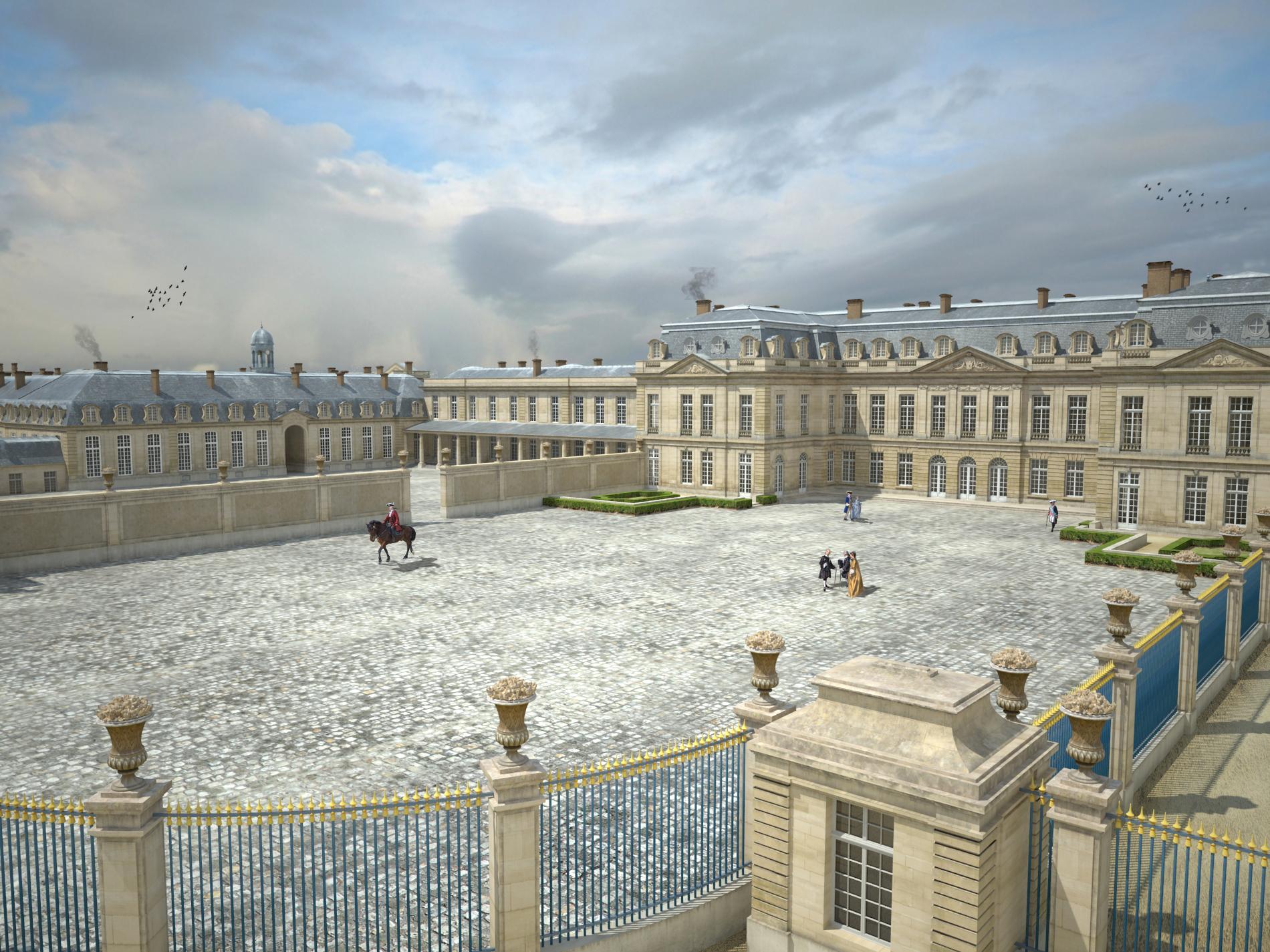 Plongée 3D au château de Choisy-le-Roi à l'époque de Louis XV | 94 ...