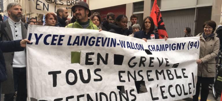 Les profs de lycées des quartiers prioritaires portent leur colère au ministère