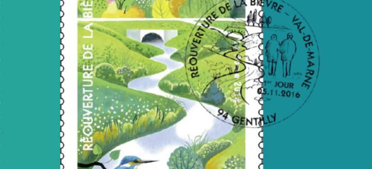 Un timbre poste collector pour fêter la réouverture de la Bièvre