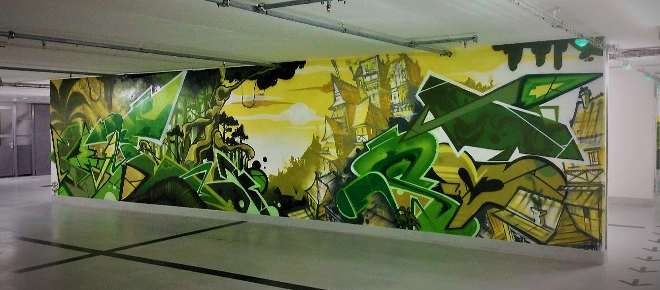 Societe Generale Fontenay-sous-Bois 21 Parking Street Art