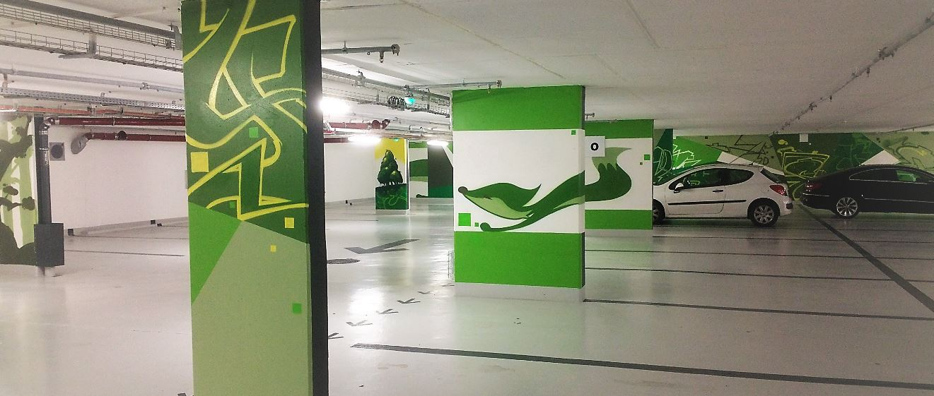 Societe Generale Fontenay-sous-Bois 22 Parking Street Art