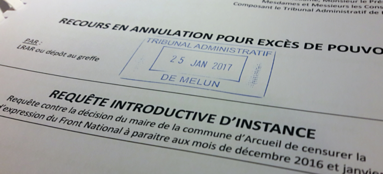 Le FN attaque Arcueil en justice pour refus d'imprimer le bulletin d'adhésion au parti dans le bulletin municipal