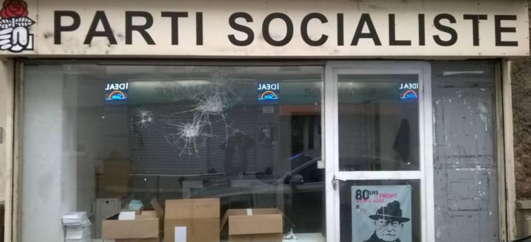 La permanence du PS vandalisée à Villejuif