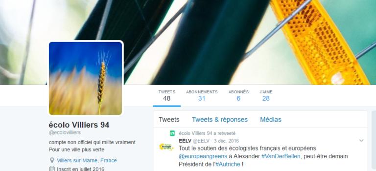 Les écologistes de Villiers se font piquer leur ex-compte twitter