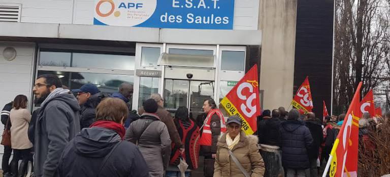 70 manifestants devant APF Entreprises Orly à l'appel de la CGT
