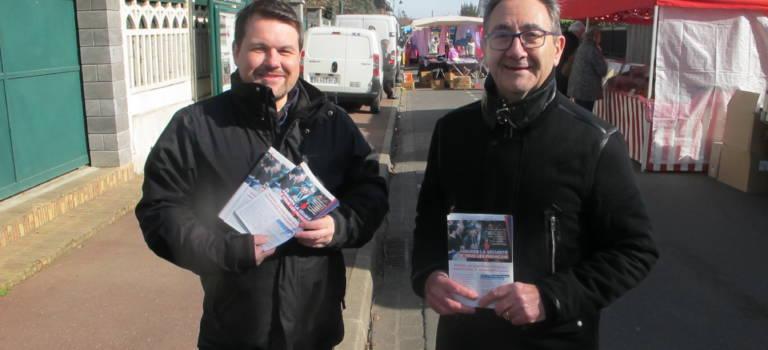 Campagne 100% Fillon au marché d'Ormesson-sur-Marne