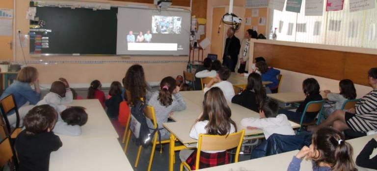 Thomas Pesquet en direct de l'espace avec les élèves de Maisons-Alfort