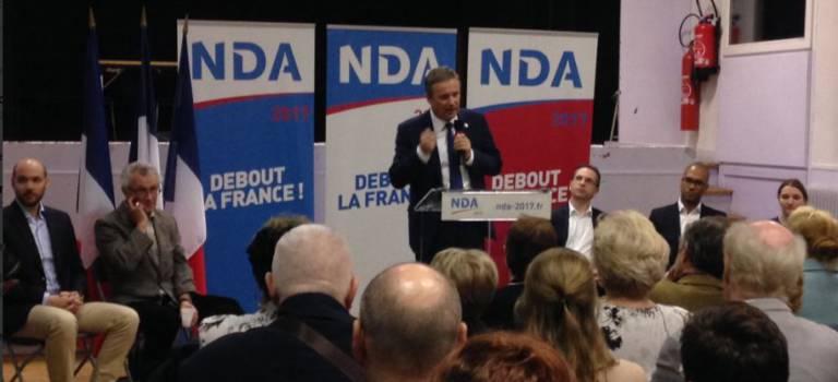 Nicolas Dupont-Aignan est venu bichonner ses électeurs du Sud Val-de-Marne