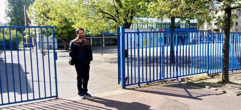 Humeurs d'électeurs à la sortie des bureaux de vote Casalis à Créteil