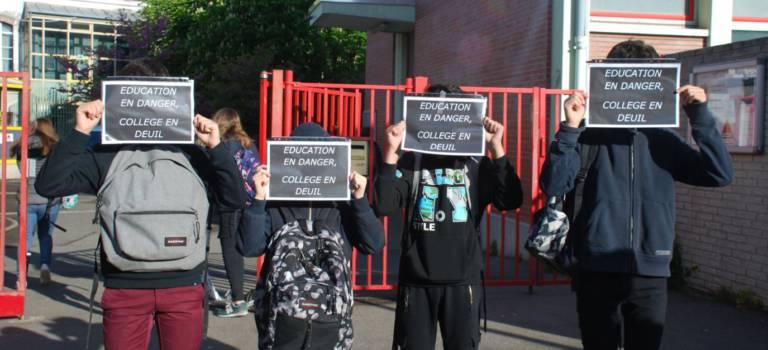 Nouvelle journée contre la fermeture d'une 5ème au collège Duruy de Fontenay-sous-Bois