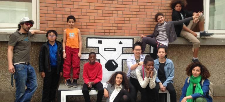 A Vitry-sur-Seine, les élèves de Lakanal ont relooké leur collège façon street-art