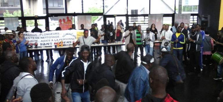 Grève de travailleurs sans papiers en Val-de-Marne