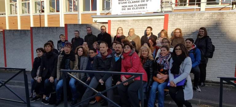Grève et collège mort à Victor Duruy pour protester contre une fermeture de 5e