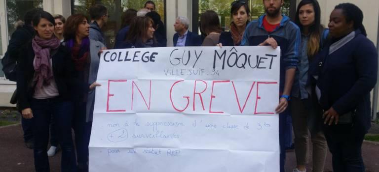 Grève illimitée au collège Guy Môquet de Villejuif