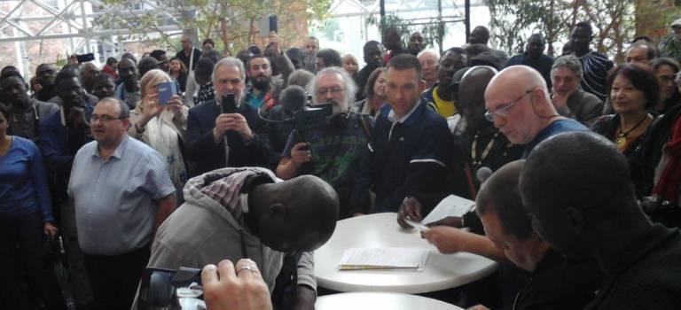 Les ex-travailleurs sans papiers du MIN de Rungis ont fêté leur régularisation provisoire
