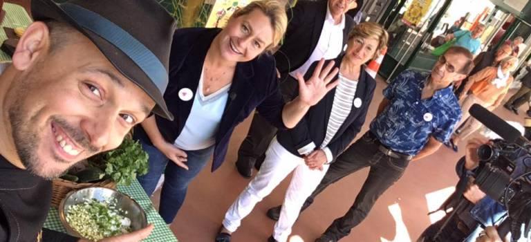 Luana Belmondo a fait son marché au Perreux-sur-Marne