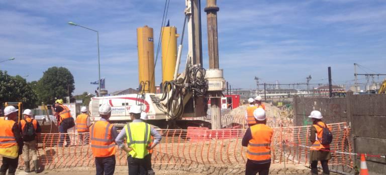 Sur le chantier de la station de pompage anti-crue à Vitry-sur-Seine