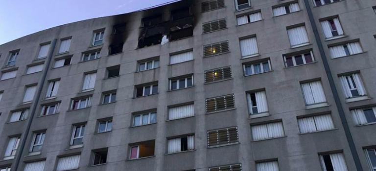 6 blessés dont un grave après l'incendie d'un immeuble allée Carpeaux à Champigny