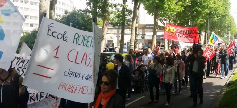 Reprise des manifs contre les fermetures de classe en Val-de-Marne