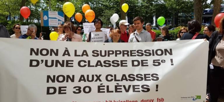 Les collèges de Fontenay ont manifesté sous les fenêtres de l'Inspection