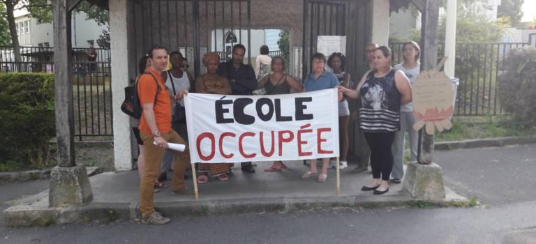 Occupation des écoles Kergomard et Macé à Arcueil