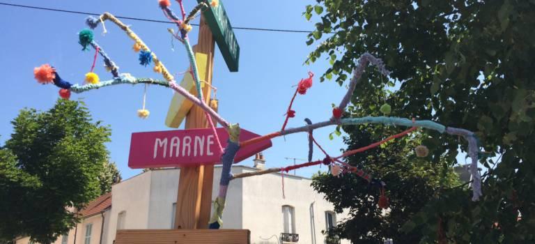 Street-art de laine : Champigny-sur-Marne s'habille pour l'été